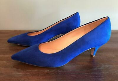 1a37a72944 NIB JCrew $198 Dulci Kitten Heels in Suede 9 Brilliant Sapphire Blue Pump  K7889
