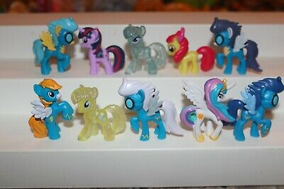 Hasbro ~ My Little Pony Mini Figures ~ MLP Mixed Lot of 10  2 inch PRE-OWNED L31
