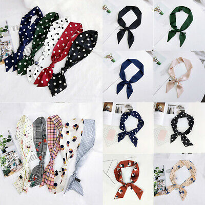 Small Scarf Satin Neckerchief Head-Neck Hair Band Rope Bag Tie Wristband Wrap