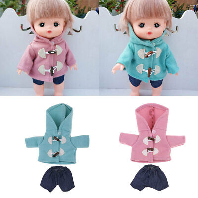 Doll Clothes Set Hooded Coat with Pants for Mellchan Baby Dolls Accessory