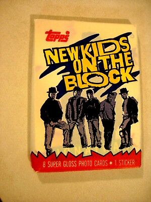 Vintage 1989 New Kids on the Block trading cards unopened