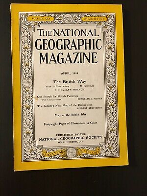 National Geographic magazine April 1949 The British Way Paintings, Coke Ad page