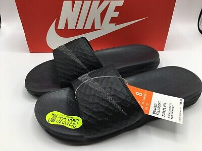 Nike BENASSI SOLARSOFT Mens Size 8 New Black/Anthracite 705474-091 Slide Sandal