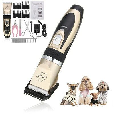 Rechargeable Pet Dog Cat Electric Hair Clipper Grooming Trimmer AU Plug