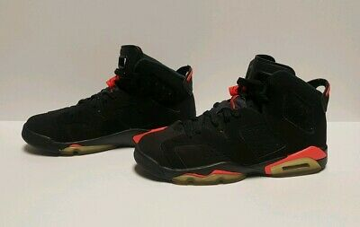 new style 9e4ae bcc28 Nike Air Jordan Retro VI 6 Black Infrared 23 Size 7Y 384665 023 Clean Youth  Used