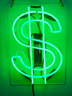 "New US Dollar Neon Sign Acrylic Gift Light Lamp Bar Wall Room 14""x10"""