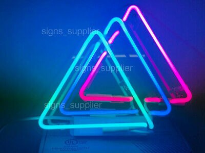 NEW THREE TRIANGLES Neon Sign Acrylic Gift Light Lamp Bar Wall 14