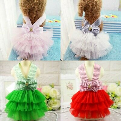 Small Pet Dog Cat Summer Lace Skirt Princess Tutu Dress Puppy Clothes Apparel