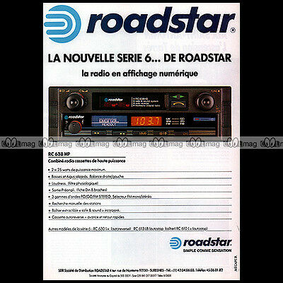 ★ Autoradio ROADSTAR RC638 ★ Pub MOTO Publicité Vintage Car radio Advert #A203