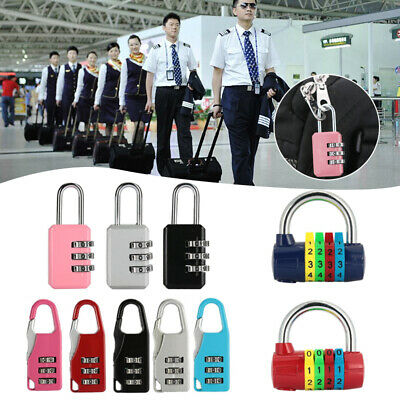 84AE 3 Digit Coded Padlock Travel Keyless Lock Suitcase Luggage Password Lock