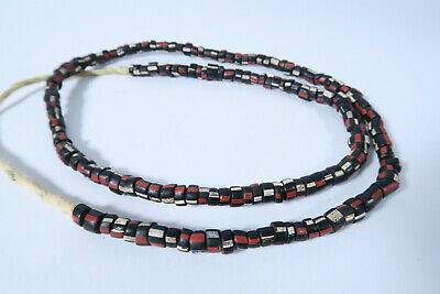 Alte Glasperlen Venedig Murano AP46 Old Venetian Striped Trade Beads Afrozip