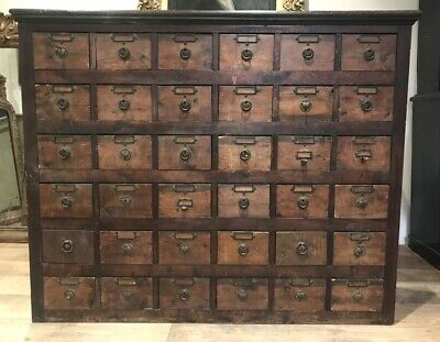 Victorian Bank Of Apothecary Drawers