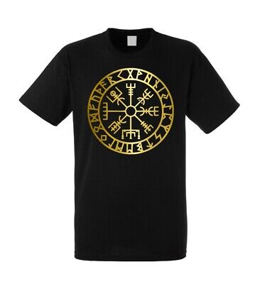Vegvisir viking compass rune mens t-shirt 100% cotton all sizes and colours
