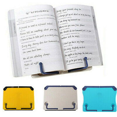 Portable Book Reading Desk Stand Adjustable Music Book Document Holder Tackle 6A