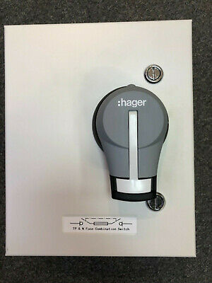 HAGER 20a 32a SWITCH FUSE INDUSTRIAL TP+N 3 PHASE METAL CLAD ISOLATOR JFB303U