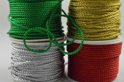 Rattail rope cord 2mm 3 lengths jewellery laces string satin shamballa kumihimo