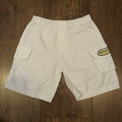 Size 3A Years Dkny White Shorts Summer/Holiday/Beach/Sport/Football/Towie/Lego