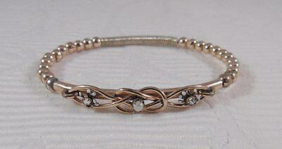 Very Nice Victorian Rolled Gold Double Bracelet from 1890s