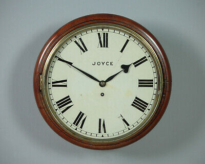 Antique Mahogany Fusee Wall Clock c.1850.