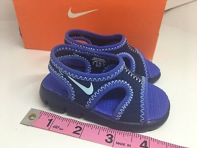 separation shoes b86c8 fed9c Nike Sunray Protect Blue Sandal Little Boys toddler Size 3C
