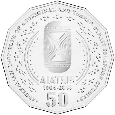 2 x 2014 AIATSIS .. 50 cent Coin .. UNC. Gem Condition .. Registered Post .. #2