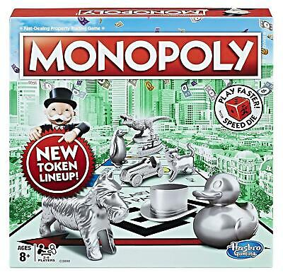 Hasbro USA Edition Monopoly Game With Limited Edition Speed Die
