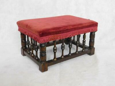 A GOOD EDWARDIAN STYLED FOOT STOOL in the Antique manner