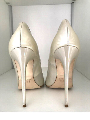 1969 Pumps 14 cm Sexy 42 43 Gold cream Nude leather fetish pumps high heels