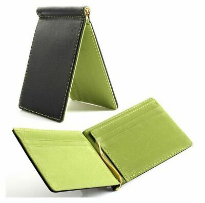 c168524ce16b Men Slim PU Leather Bifold ID Credit Card Wallet with Removable Money Clip  NEW