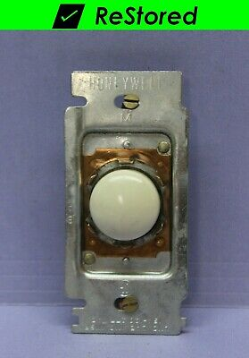 Vintage Honeywell White Tap-Lite Taplite Wall Light Switch, Push Button, 3-Way