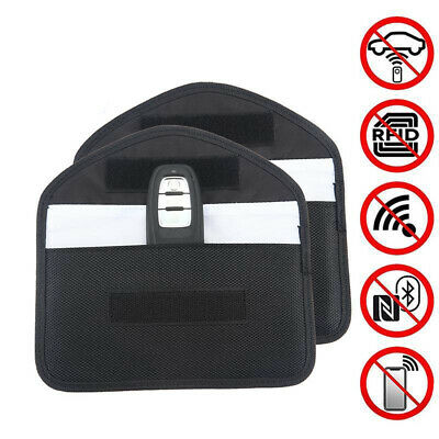 2x Car Key Keyless Entry Fob Signal Blocker Wallet Faraday Bag Pouch Case Large