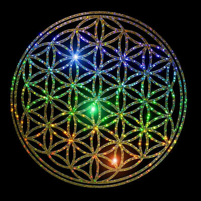 Flower of Life Holographic Aluminum FX Decals various colours