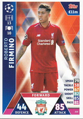TOPPS MATCH ATTAX CL 2018-19 - Roberto Firmino - Liverpool - # 215