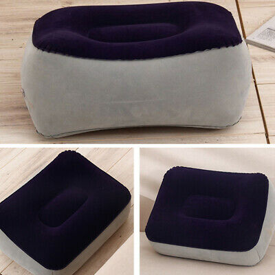Inflatable Foot Massage Rest Pillow Travel Home Relax Relieve Fatigue Cushion PX
