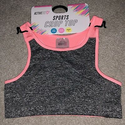 Active Fit Girls Sport Crop Top Pink, Age 4-5 Years