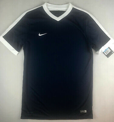 new product 49568 314cd Nike Mens M Dri-Fit Ss Striker Iv Soccer Practice Jersey Navy 725898 419 K2