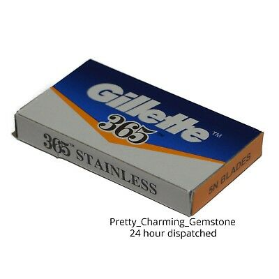 100Pcs Gillette 365 Double Edge Safety Razor DE Shaving Blade Barber Cut