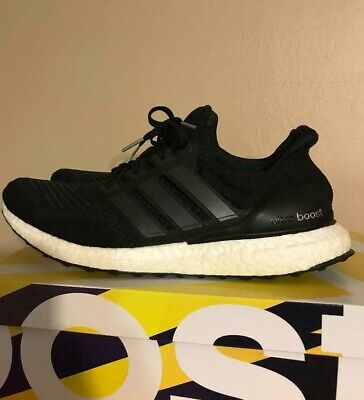 a02e1ccee52 Adidas Ultra Boost Core Black 1.0 OG US Size 11.5 S77417 Ultraboost Yeezy
