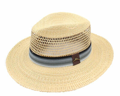 official photos b5f2c 296fc Tommy Bahama Mens Tropical Dress Fedora Hat, New Without Tags (Khaki, Large)