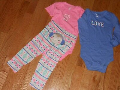 CARTER/'S GIRLS NEWBORN 2 PC MOMMY/'S FAVORITE GIFT CHRISTMAS OUTFIT NEW #16538