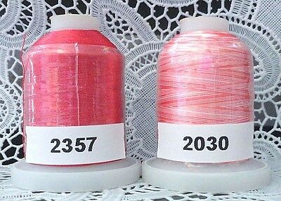 3 different colors 100/% Polyester Machine Embroidery Thread 1110 yds each Spool