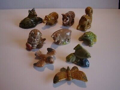 Wade Whimsies Kitten Frog Butterfly Fish Boar Pig Bird Alsatian Dog Hippo Batch.