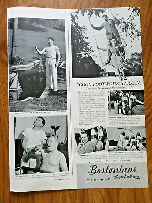 1941  Bostonians Shoes Ad Good Footwork TARZAN