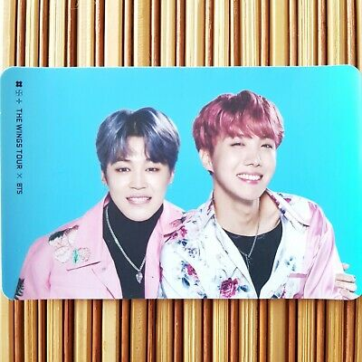 2 Jimin J-Hope BTS WINGS Tour Concert Official Sticker Goods Card Photocard Set