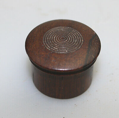 Antique Treen a wooden turned Patch Pill Snuff Box C.19thC