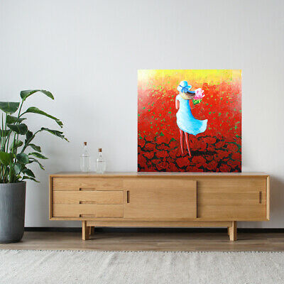 Abstract Young Girl Hand Painted Art Canvas Oil Painting Home Decor Framed