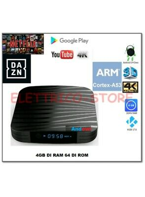 Android Tv Box Smart Tv Q10 Android 8.1 Oreo A53 4Gb Ram 64Gb 4K  Wifi Dazn