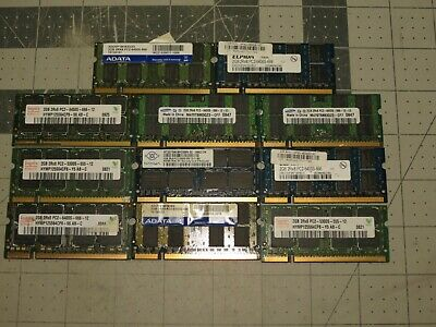 22Gb (11 - 2Gb) Ram Memory 2Rx8 For Computer Laptop All Untested And Sold As Is