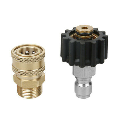 """Washer Adapter M22 Female + 3/8"""" Quick Connect Socket Kit 5000psi High Quality"""