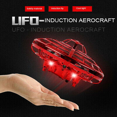 Hand Flying UFO Ball LED Mini Induction Suspension RC Aircraft Flying Toys fa